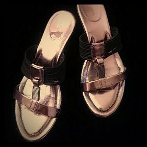 Alfani gold/black sandals-sz 8 1/2